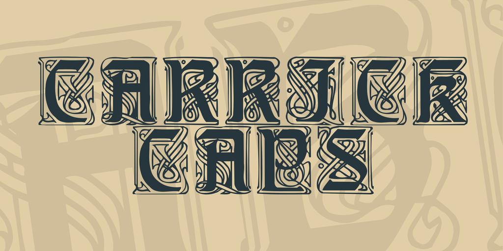 Carrick Caps Font 古代英文字型下載