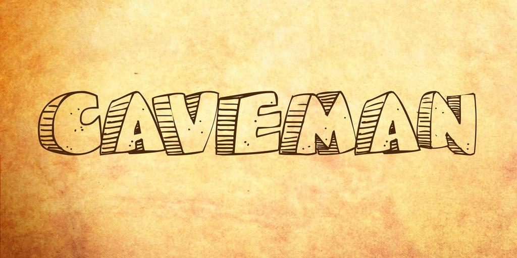 Caveman Font 復古繪畫字型下載