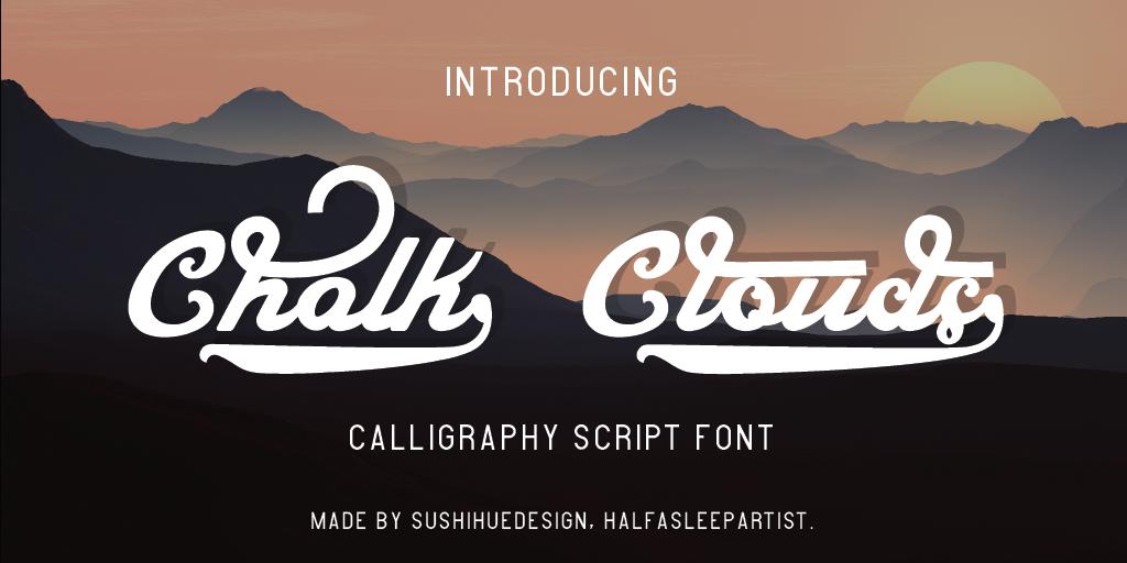 Chalk Clouds Font 美式標題字型下載