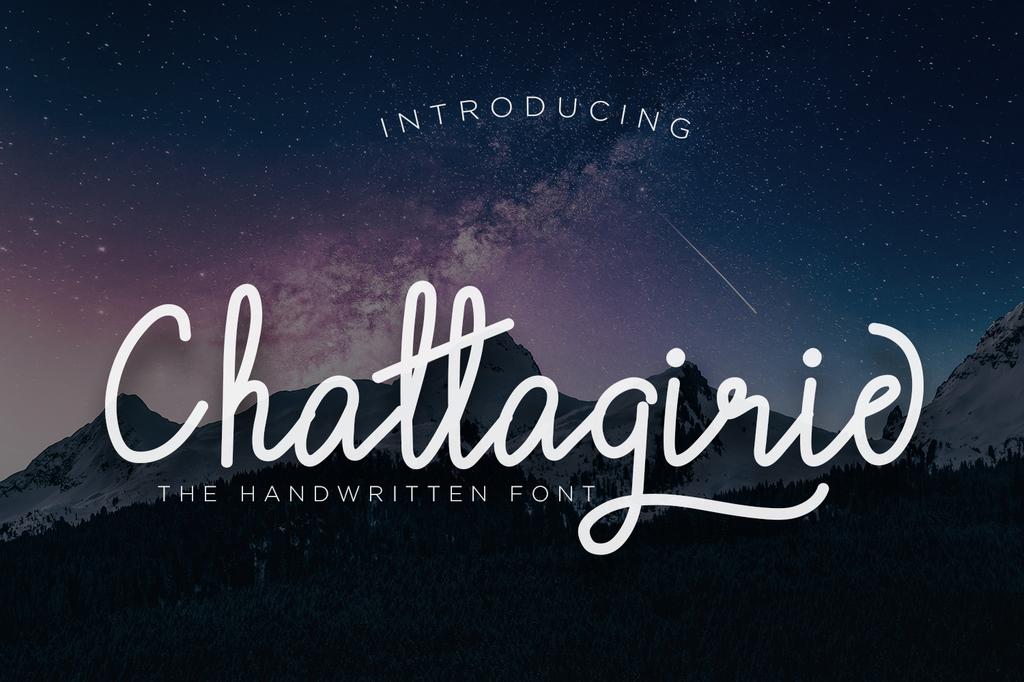 Chattagirie Font Family 潦草英文字型下載