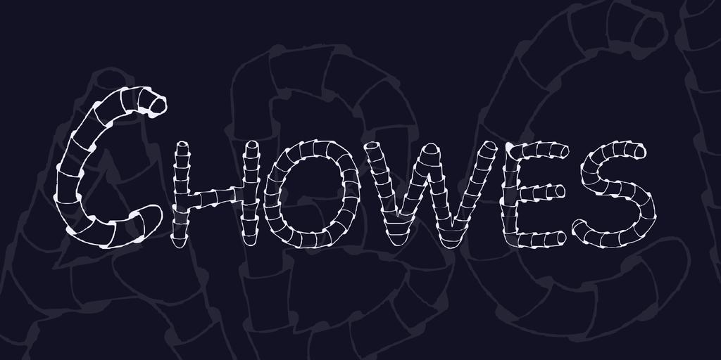 Chowes Font 伸縮字型下載