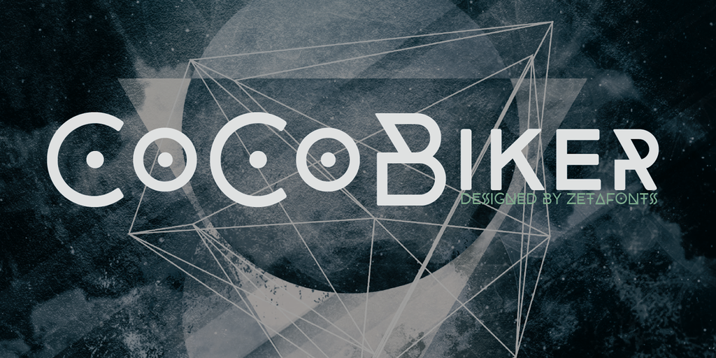 CocoBikeR Font 時尚廣告字型下載