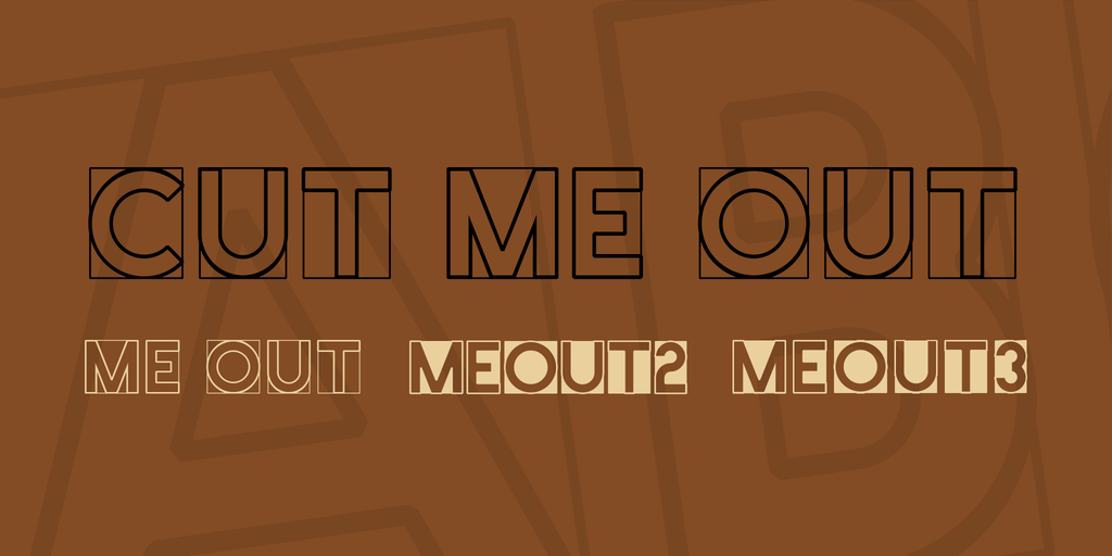 Cut Me Out Font Family 英文工程字型下載
