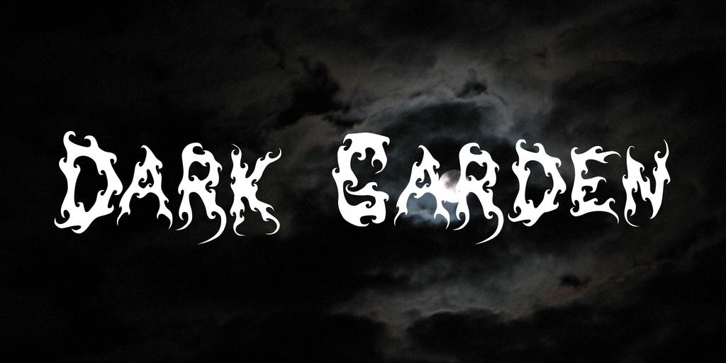 Dark Garden Font 火焰刺青字型下載