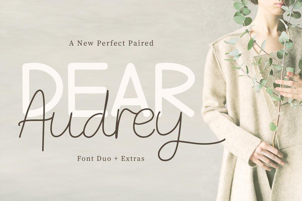 Dear Audrey Font Family 婚禮請帖字型下載