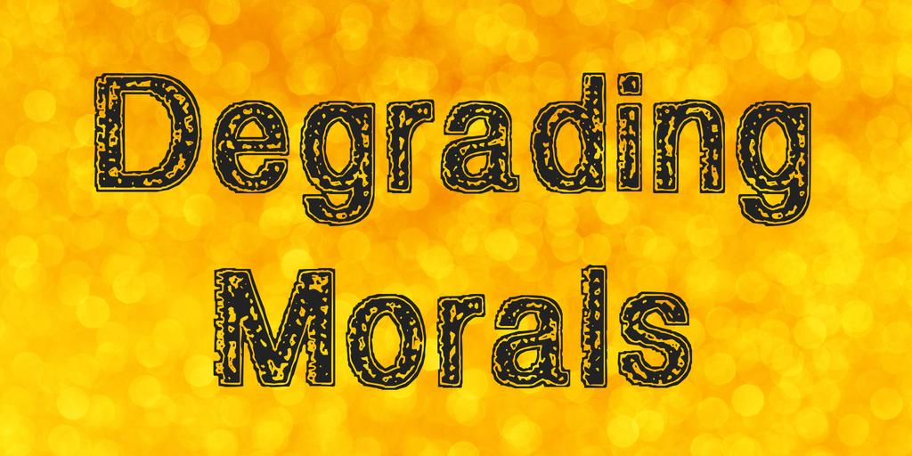 Degrading Morals Font 手繪輪廓字型下載