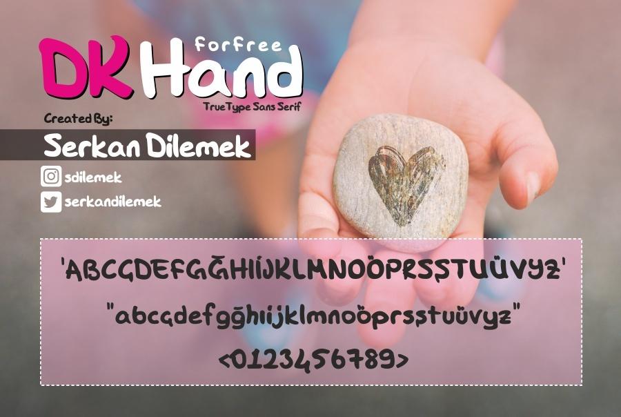 DK Hand Font 商業手寫字型下載