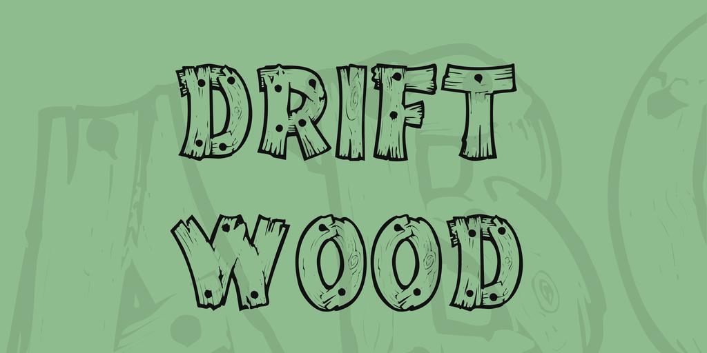 木頭字型下載