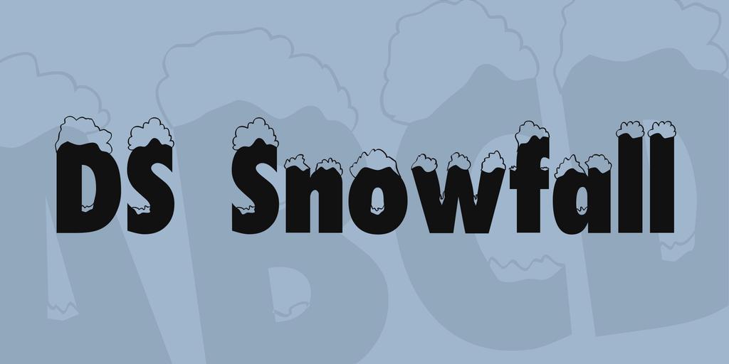 DS Snowfall Font 積雪字型下載