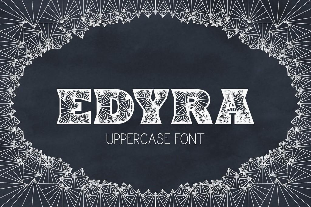 Edyra Font 手繪設計字型下載