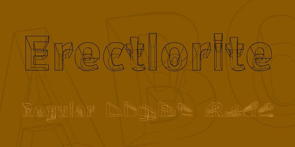 Erectlorite Font Family 3D 透視字型下載