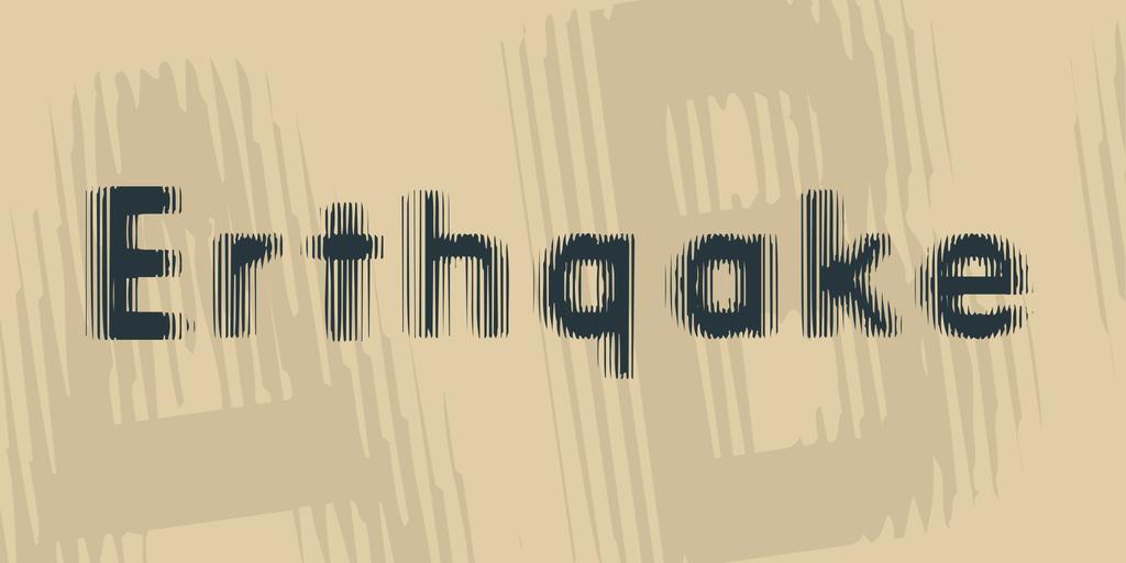 Erthqake Font 地震字型下載