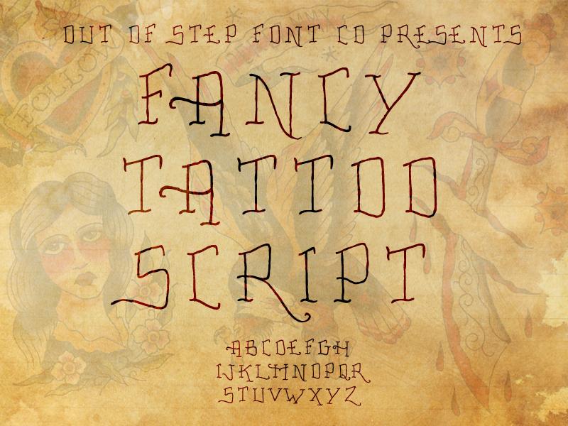 Fancy Tattoo Script Font 超細刺青字型下載
