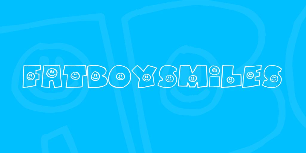 FatBoySmiles Font 微笑字型下載