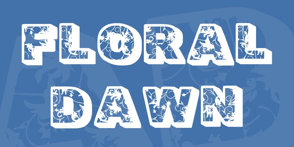 Floral Dawn Font 花卉字型下載