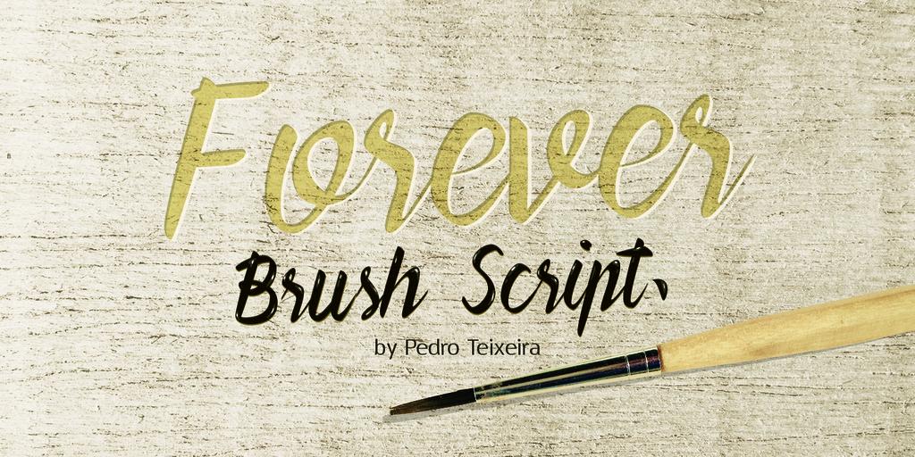 Forever Brush Script Font 手繪生日字型下載