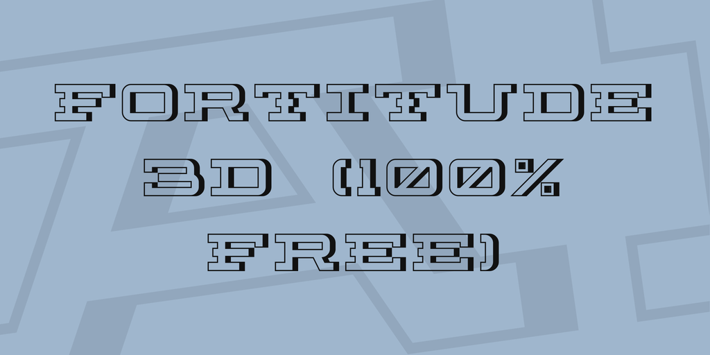 Fortitude 3D (100% Free) Font 3D海報字型下載