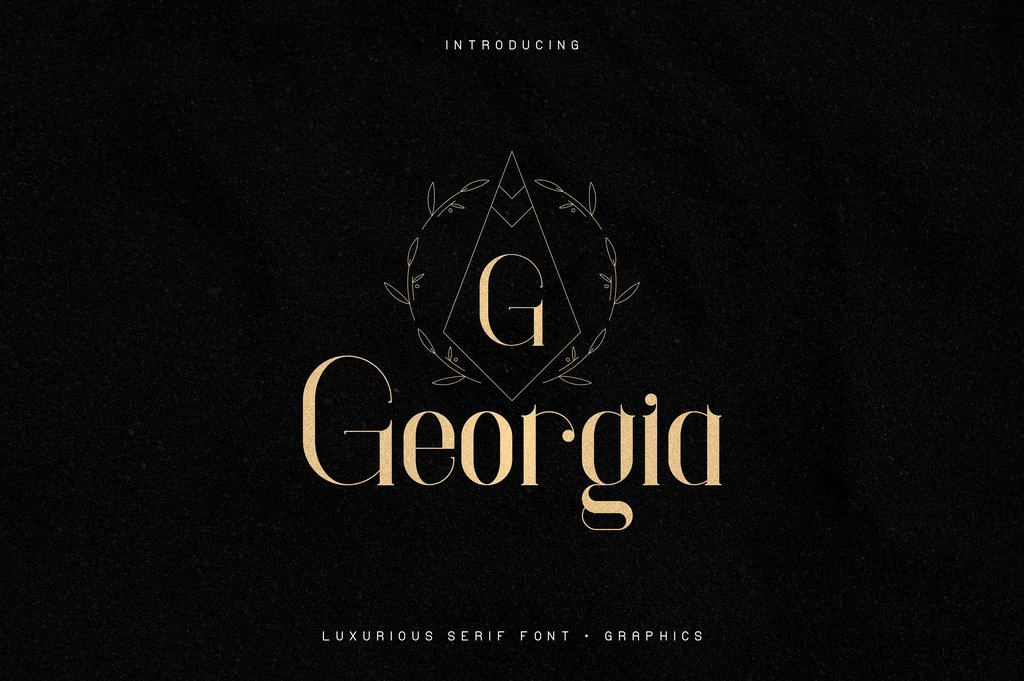 Georgia Font 時尚雜誌字型下載