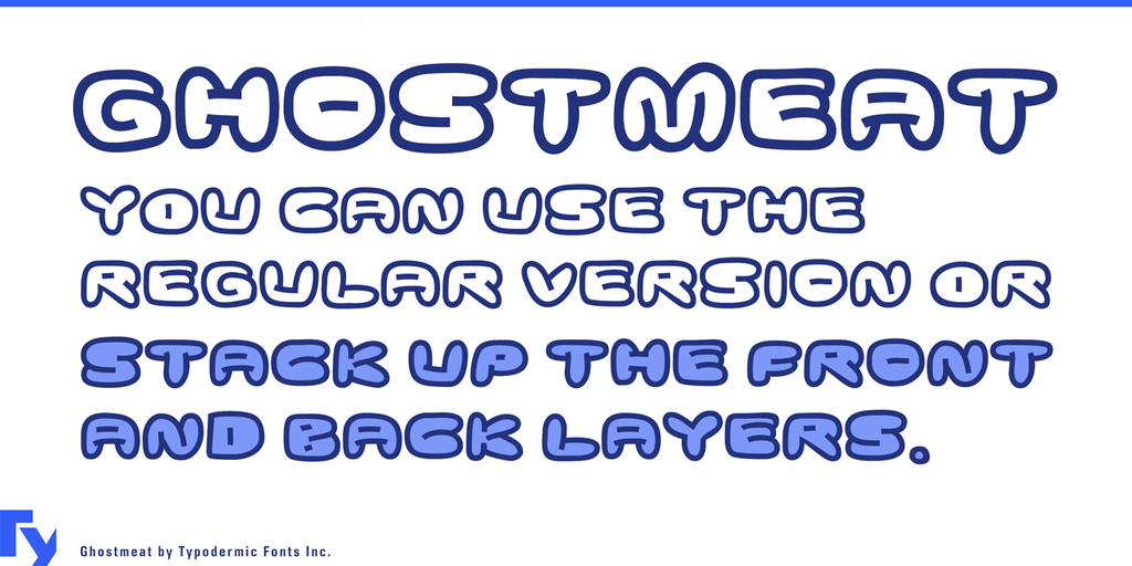 Ghostmeat Font Family 可愛卡通字型下載