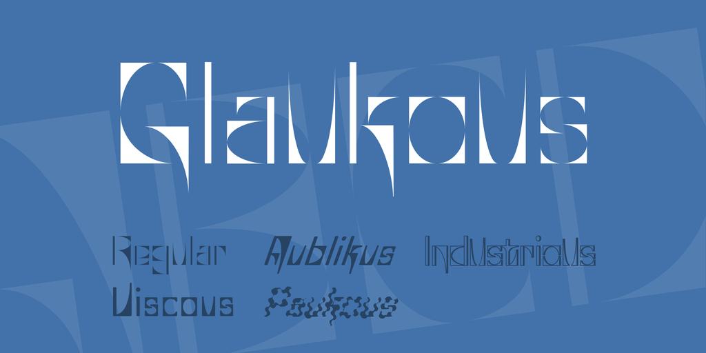 Glaukous Font Family 英文輪廓字型下載