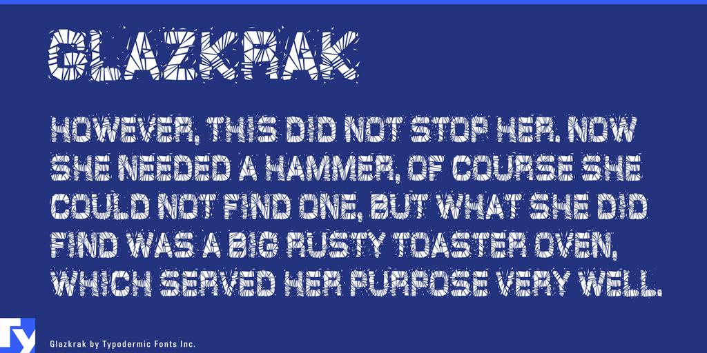 Glaz Krak Font 玻璃破碎字型下載