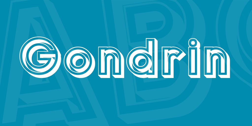 Gondrin Font 立體設計字型下載