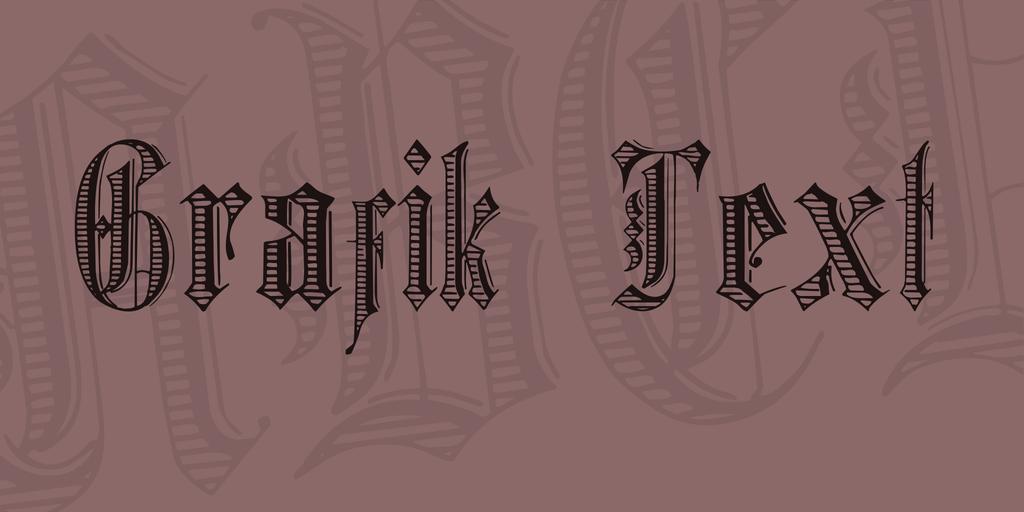 Grafik Text Font 復古歌德字型下載