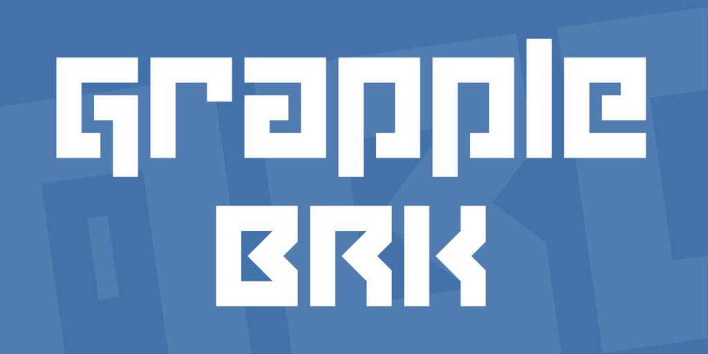 Grapple BRK Font 設計師英文字型下載