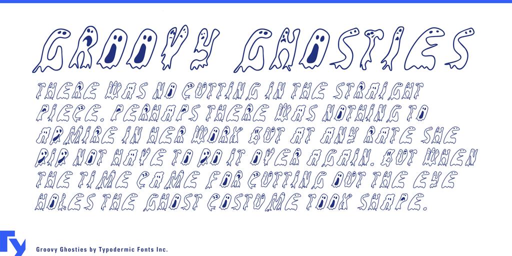 Groovy Ghosties Font 幽靈字型下載