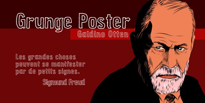 Grunge Poster Font 黑框英文字型下載