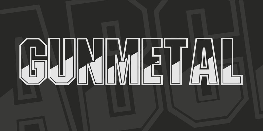 Gunmetal Font 金屬拋光字型下載