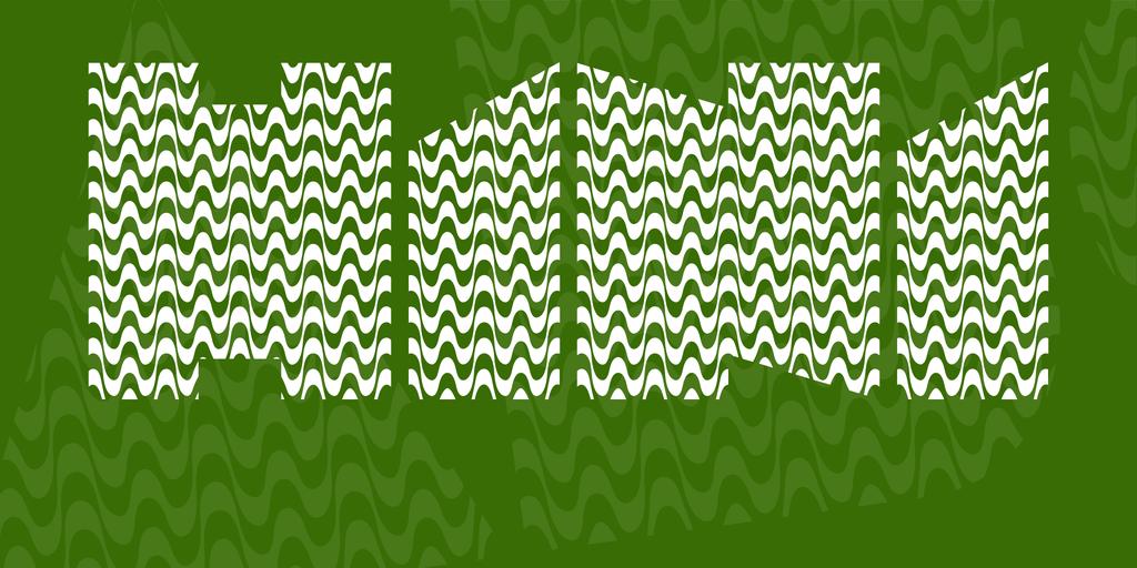 H1N1 Font 海浪字型下載