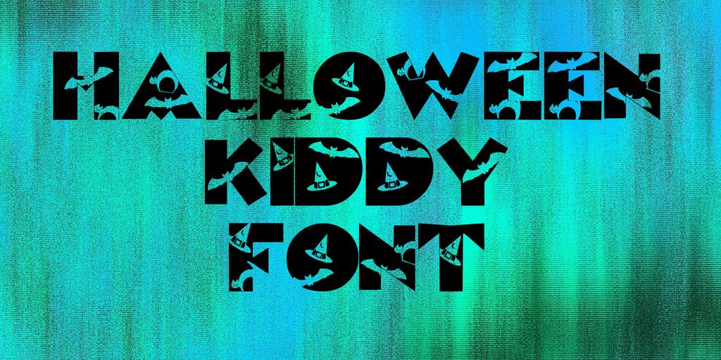 Halloween Kiddy Font Font 萬聖節蝙蝠字型下載