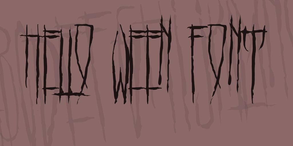 HELLO WEEN FONT Font 萬聖節可怕字型下載
