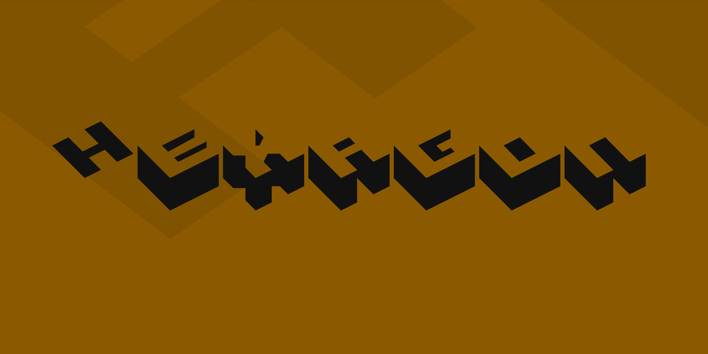 Hexagon Font 立體風字型下載