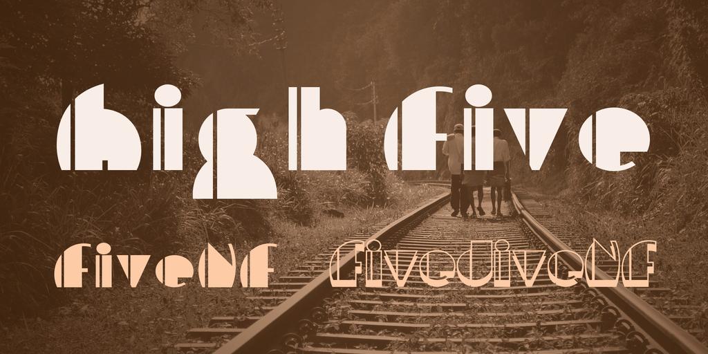 High Five Font Family 60年代字型下載