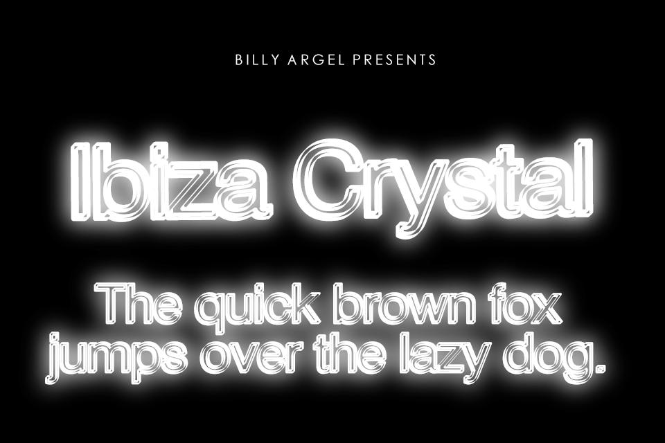 Ibiza Crystal Personal Use Font 水晶字型下載