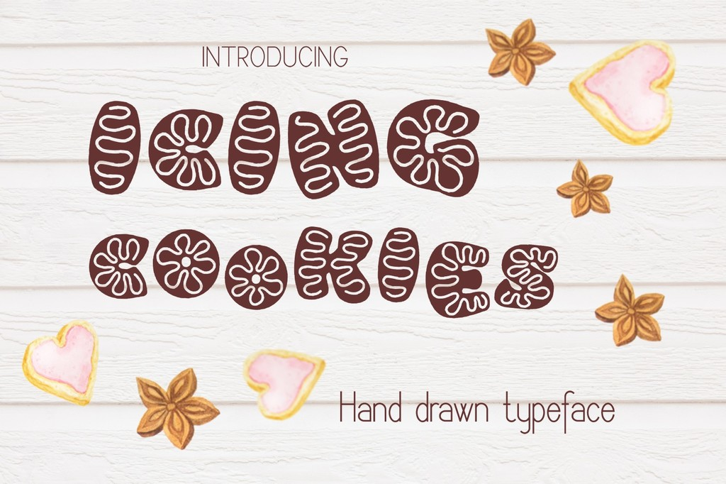Icing cookies Font 糖霜餅乾字型下載