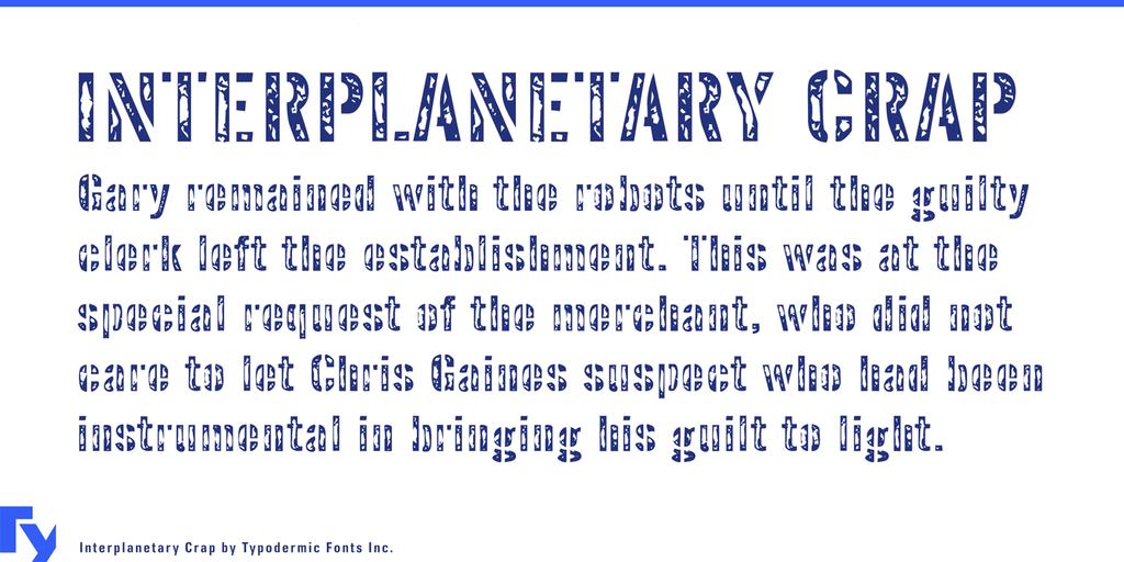 Interplanetary Crap Font 橡皮印章字型下載