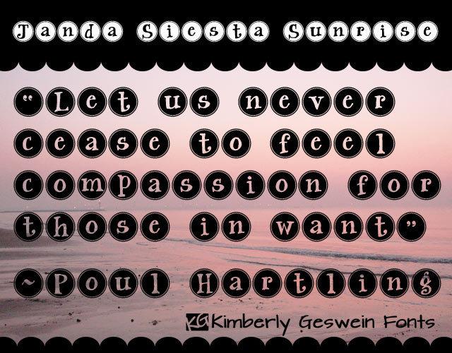 Janda Siesta Sunrise Font 打字機按鈕字型下載