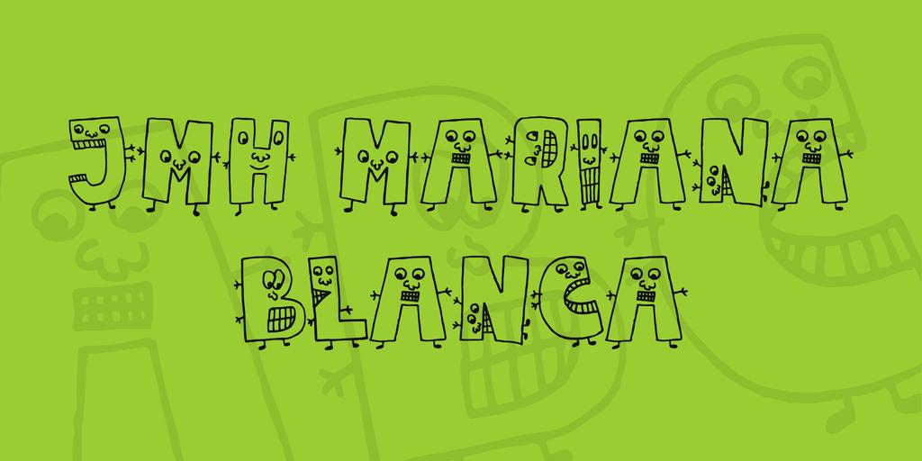 JMH Mariana Blanca Font 可愛創意字型下載