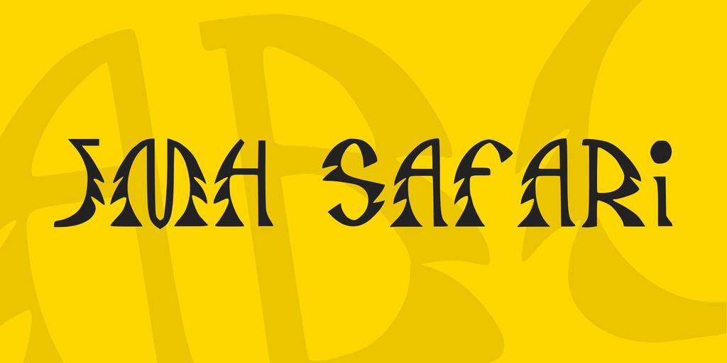 JMH Safari Font 異國情調字型下載