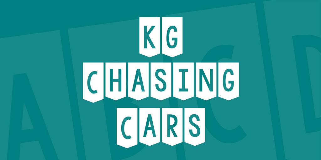KG Chasing Cars Font 可愛生日字型下載