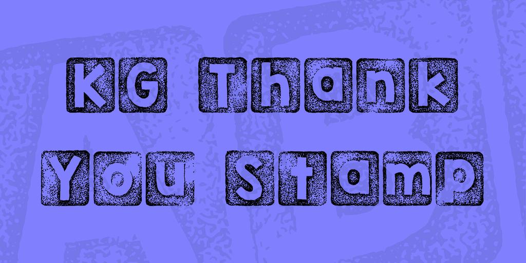KG Thank You Stamp Font 復古印章字型下載