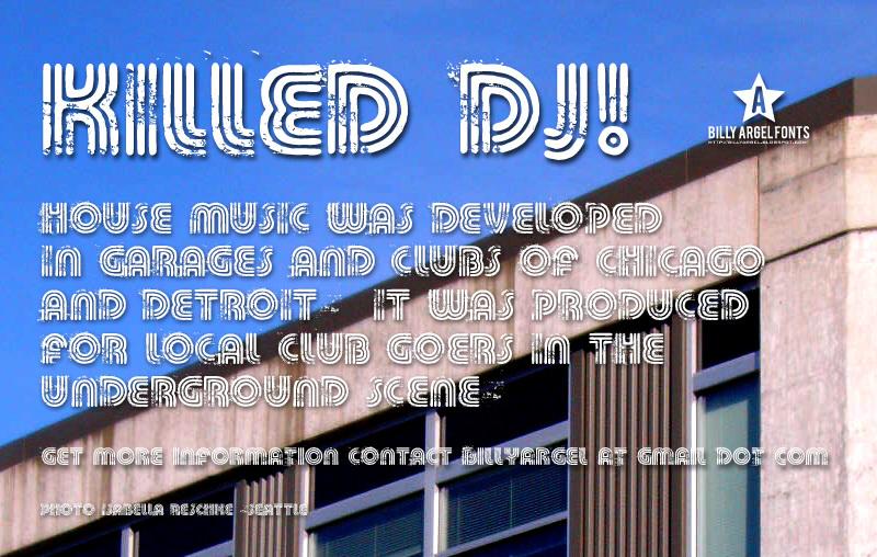KILLED DJ Font 舞廳海報字型下載