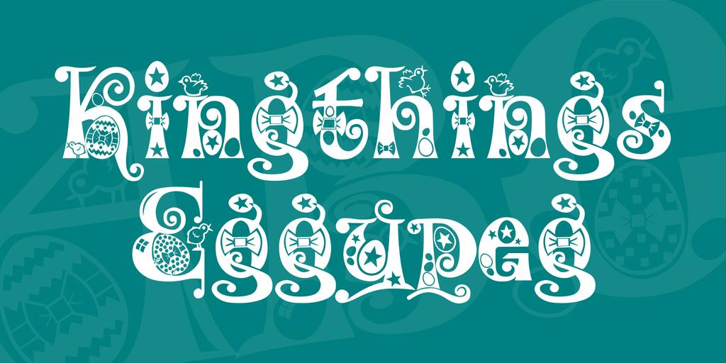 Kingthings Eggypeg Font 復活節字型下載
