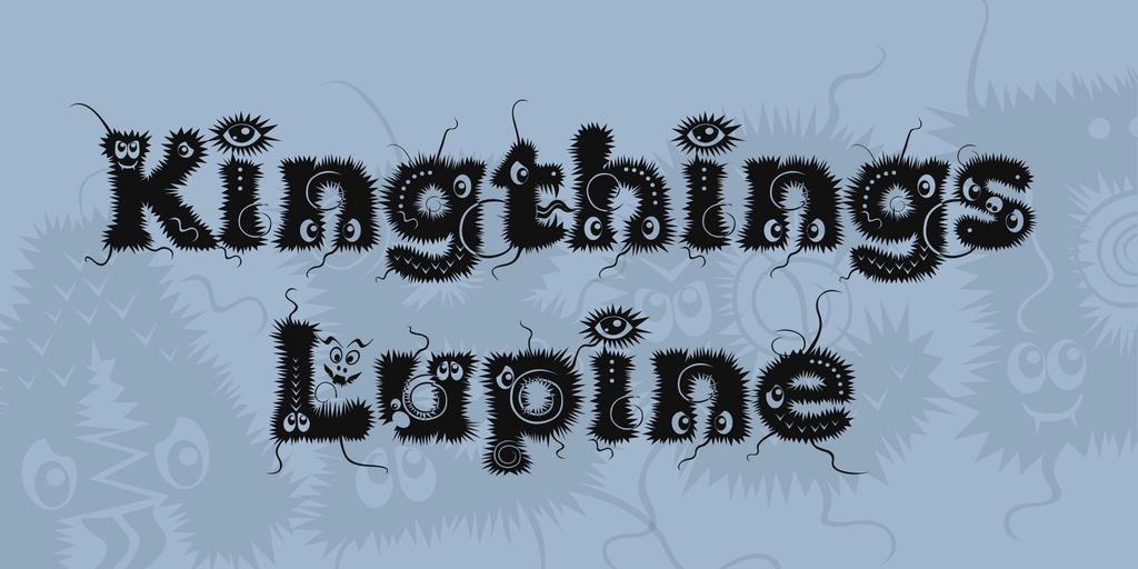Kingthings Lupine Font 搞怪幽靈字型下載