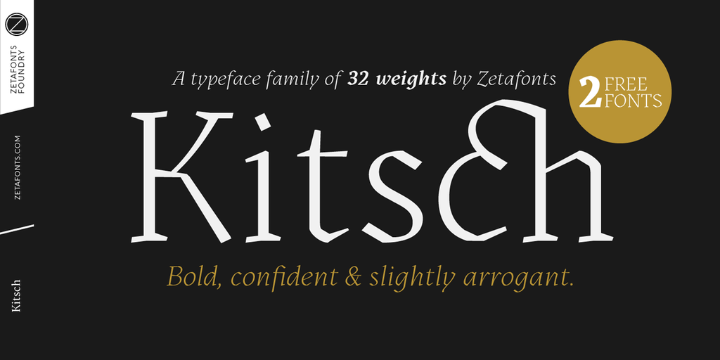 Kitsch Font Family 中世紀設計字型下載