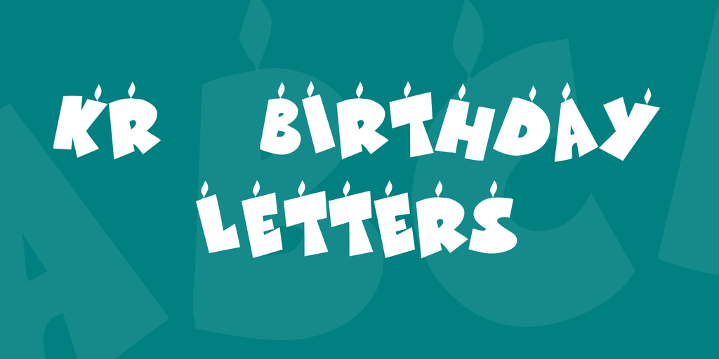 KR Birthday Letters Font 生日卡片字型下載
