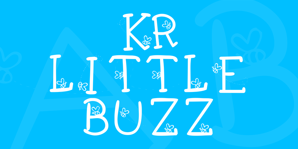 KR Little Buzz Font 可愛蜜蜂字型下載